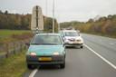 De auto waarin de verdachten van de schietpartij wilden vluchten, werd gestopt op de A270 bij Nuenen.