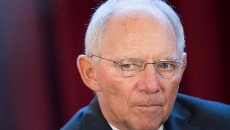 De Duitse minister van Financiën Wolfgang Schäuble. Beeld reuters