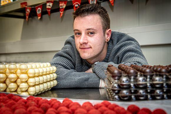 Chocolatier in spe James Fiers.