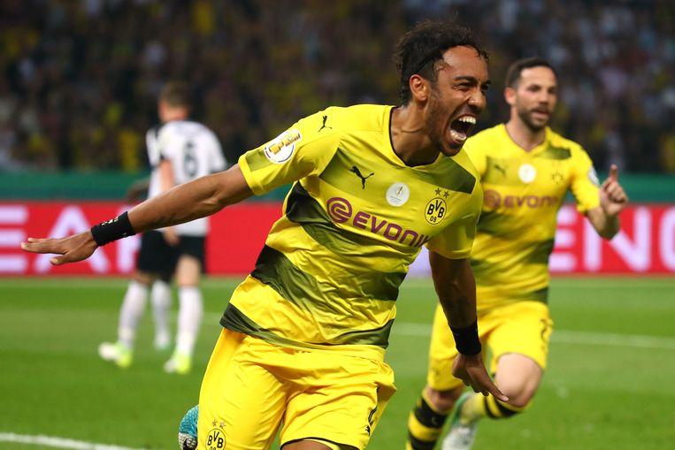 Aubameyang scoorde onder meer het beslissende doelpunt in de Duitse bekerfinale.