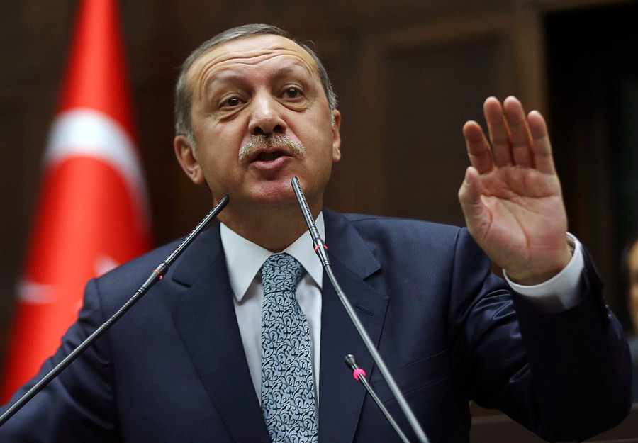 De Turkse premier Recep Tayyip Erdogan.