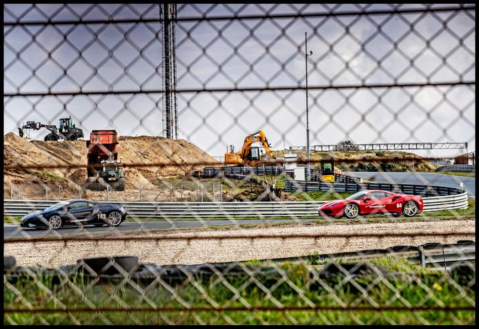 Graafwerk op Circuit Zandvoort.