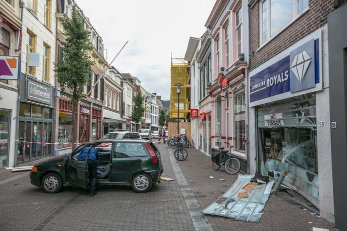 Ravage na de ramkraak in Wageningen.