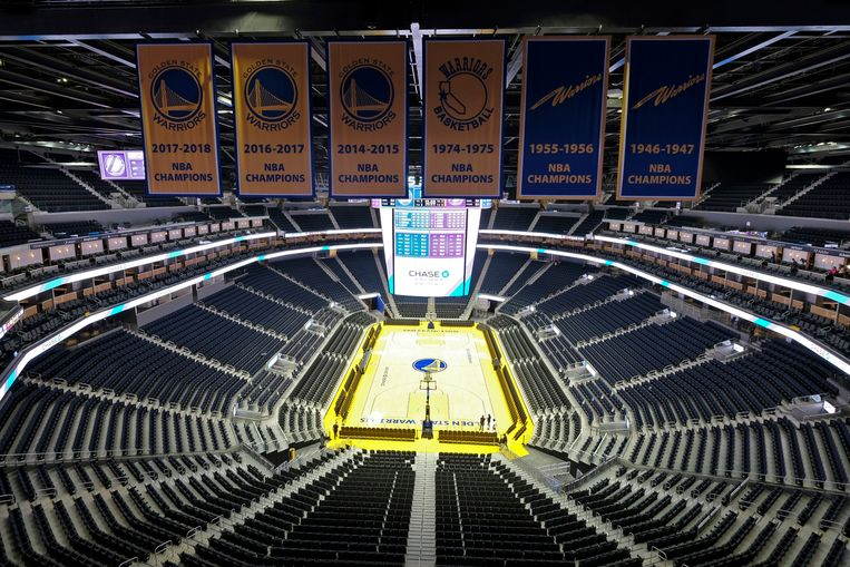Het Chase Center is de gloednieuwe arena van de Warriors.