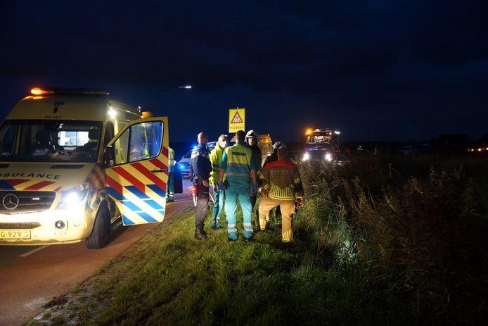 Ernstig ongeluk in Sprang-Capelle aan de Veerweg.