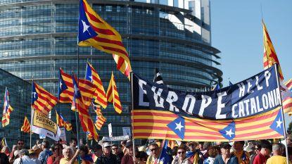 Duizenden Catalanen manifesteren voor Europees Parlement in Straatsburg