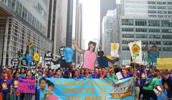 De straat op tegen klimaatverandering