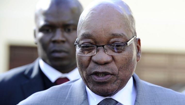 Zuid-Afrikaanse president Jacob Zuma Beeld afp