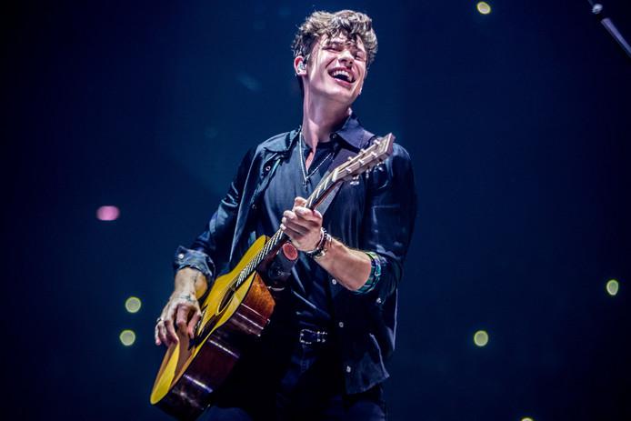 De Canadese popzanger en tevens popidool Shawn Mendes  in de Ziggo Dome in Amsterdam. Copyright Paul Bergen