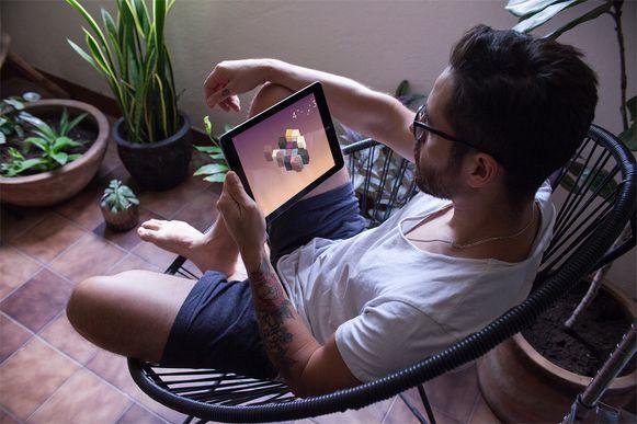 Sevn kan onder meer gespeeld worden op een tablet.