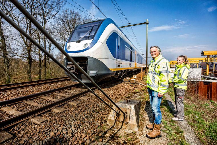 Hilversum- Op inspectie langs het spoor met de CEO Pier Eringa van Pro Rail langs de spoorlijn Hilversum-Amsterdam.  Beeld null