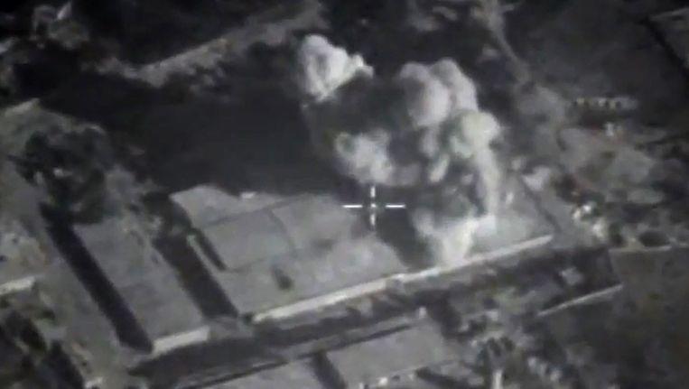 Russische luchtaanvallen op Syrië. Beeld afp