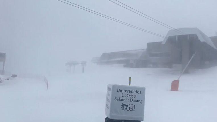 Sneeuwstorm op Tomorrowland Winter