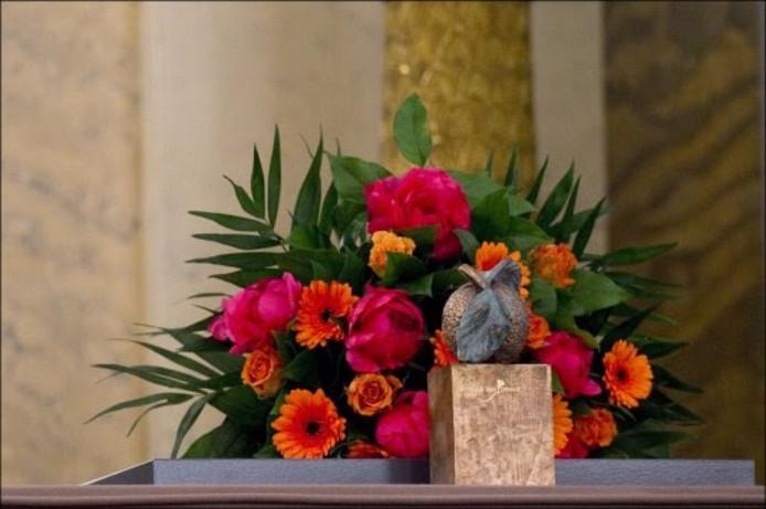 Het beeldje dat bij de titel Appeltje van Oranje wordt uitgereikt.
