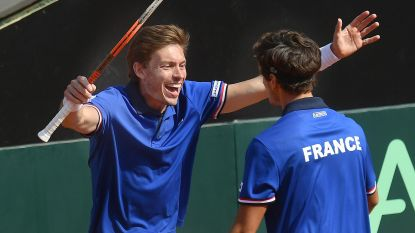Frankrijk neemt na dubbelspel leiding tegen Italië in kwartfinale Davis Cup