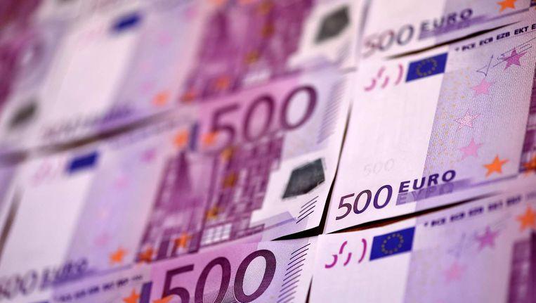 Het 500 euro-biljet wordt een duur verzamelobject. Beeld null