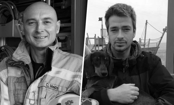 Chris Medo (42) en Benni Smulders (37) kwamen om het leven bij een brand in Beringen (België).