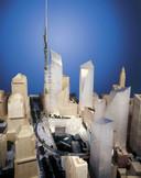 Dit ontwerp presenteerde Daniel Libeskind voor het nieuwe World Trade Center.