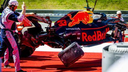 Verstappen crasht zwaar in oefenritten Oostenrijk, snelste tijd is voor Leclerc