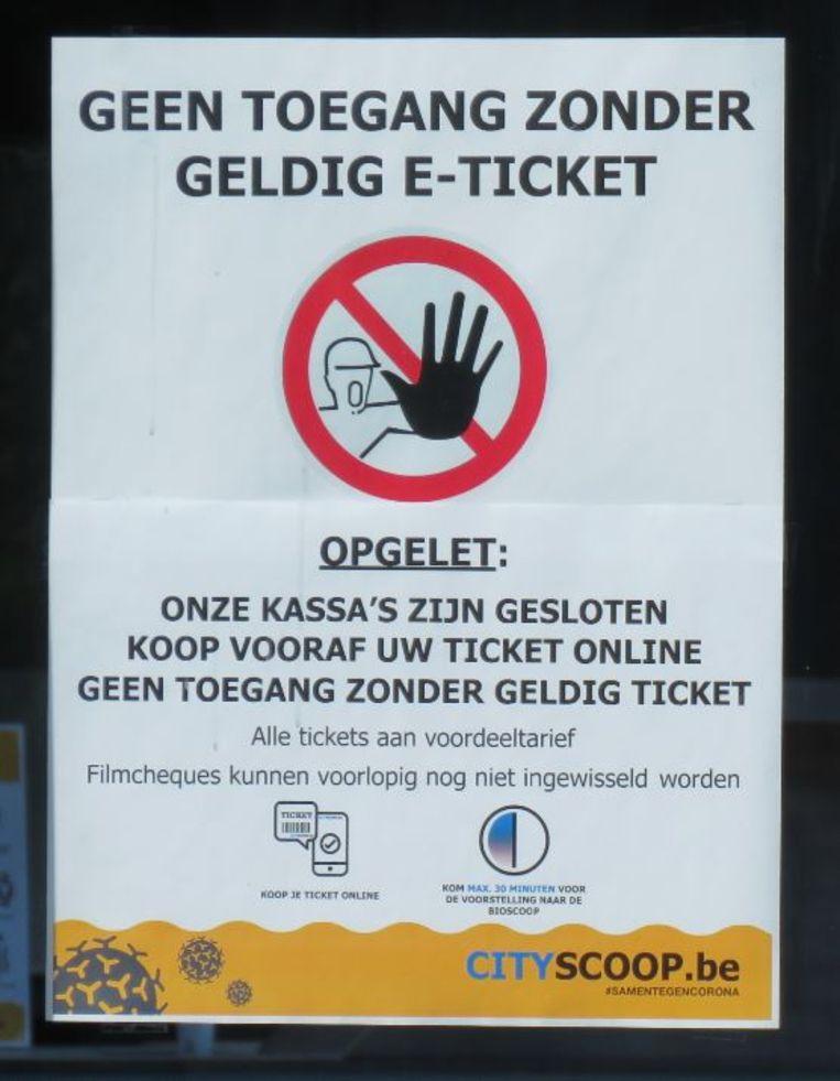 Wie de bioscoop wil bezoeken, moet online kaartjes kopen.