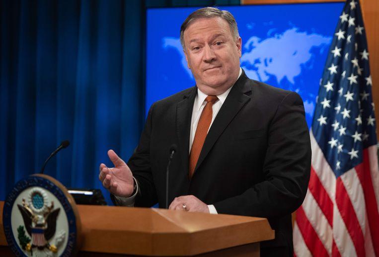 Mike Pompeo,  sinds 26 april  VS-minister van Buitenlandse Zaken. Hij staat bekend als een hardliner.