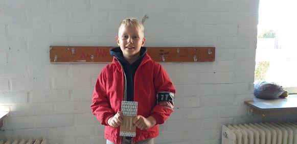 Nolan Suply (9) is al vier jaar lid van Chiro Waks