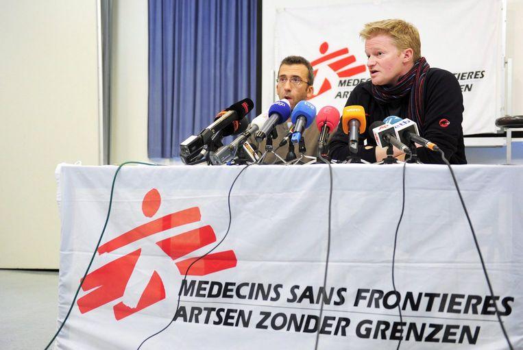 Soedan trok vorige week de vergunningen van dertien hulporganisaties in, waaronder de Franse en Nederlandse tak van AzG. Foto ANP/Eric Lalmand Beeld