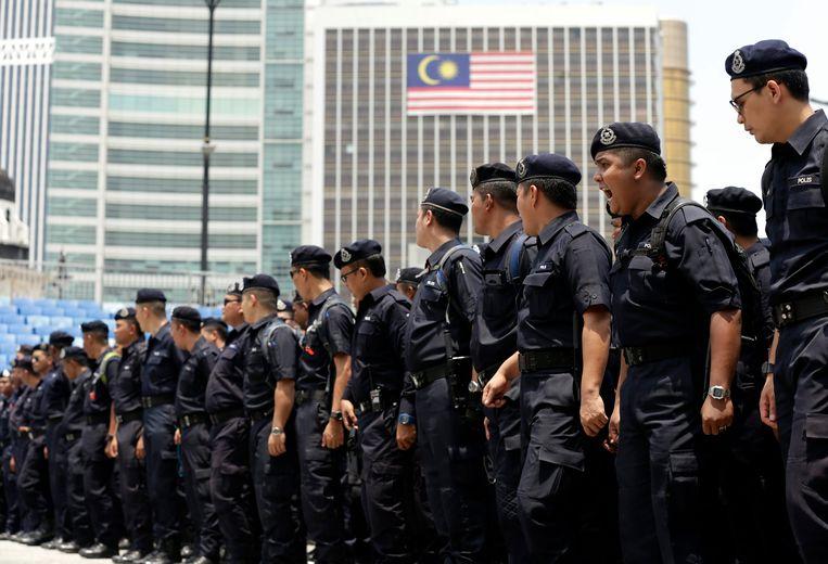 Politieagenten in Maleisië.