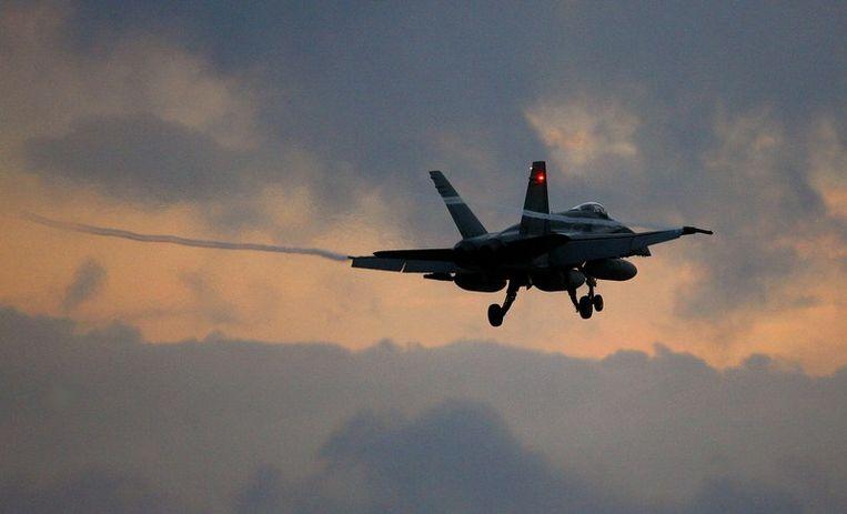 Een Canadese F-18 Hornet. Beeld afp