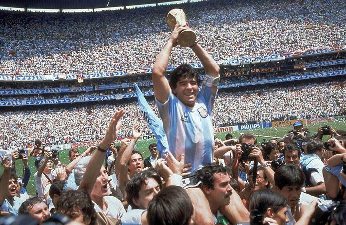 Maradona et l'Argentine vainqueurs du Mondial 1986