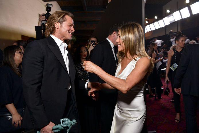 Brad Pitt et Jennifer Aniston lors de la 26ème cérémonie annuelle des Screen Actors Guild Awards, le 19 janvier 2020, à Los Angeles.