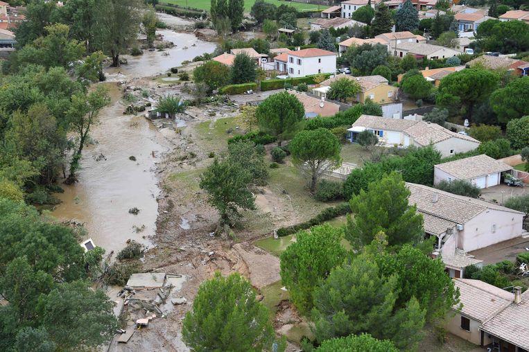 In Carcassonne traden beken en rivieren uit hun oevers.