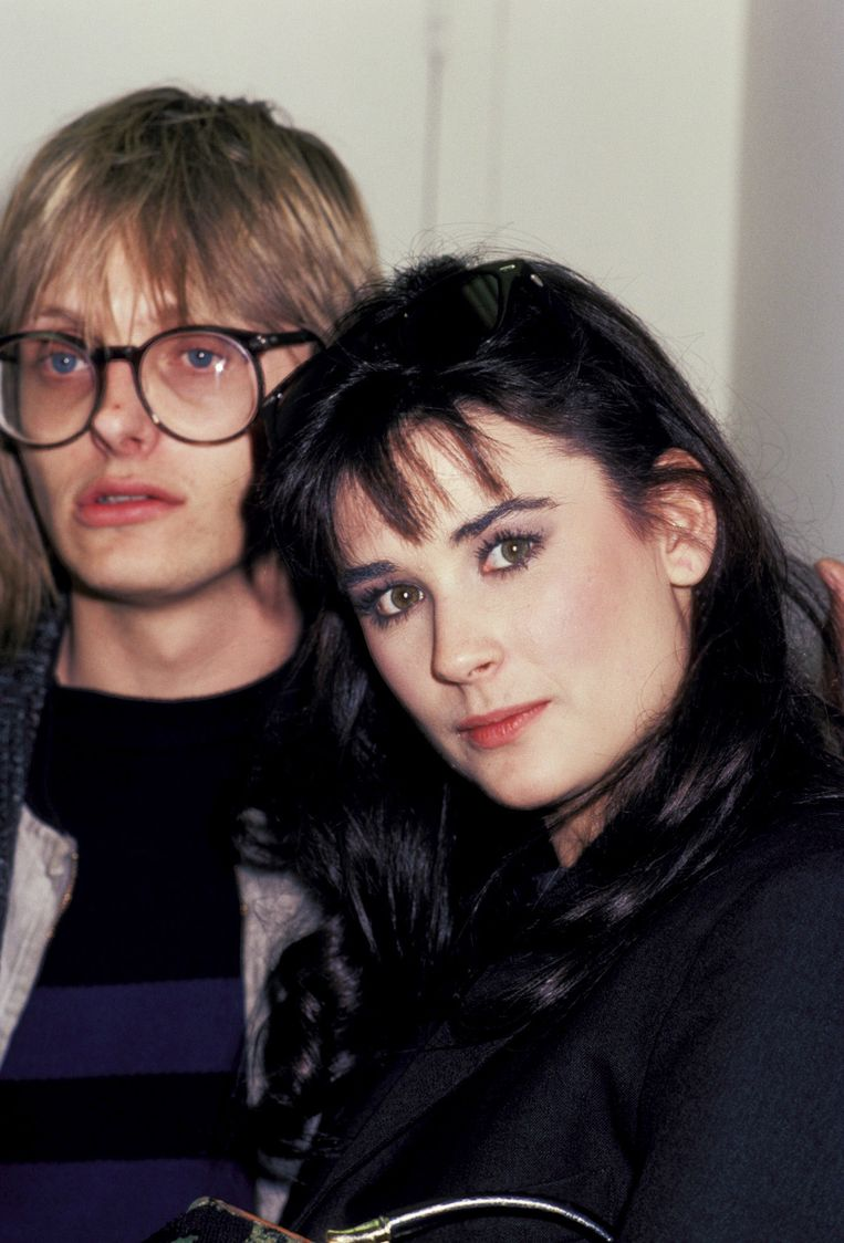 Demi en haar eerste echtgenoot Freddy Moore.