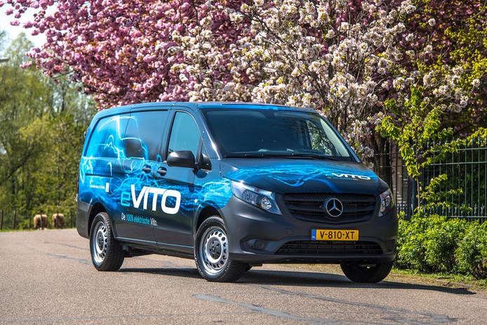 De e-Vito. Stedelijk vervoer biedt vooralsnog het meeste perspectief voor elektrische bestelwagens.