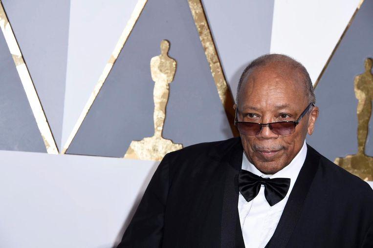 Quincy Jones tijdens de Oscars eerder dit jaar. Beeld anp