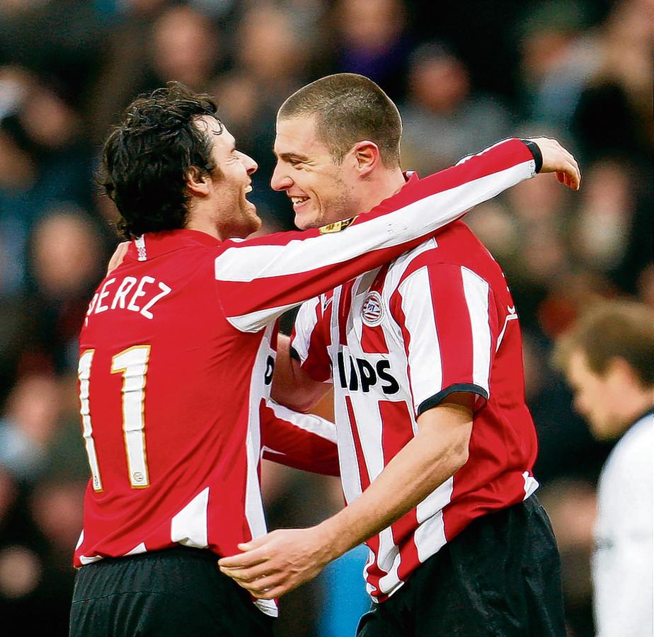 Perez en Koevermans speelden ook bij PSV samen.