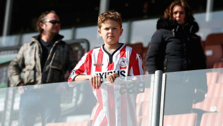 Een jonge Sparta-fan. Beeld anp