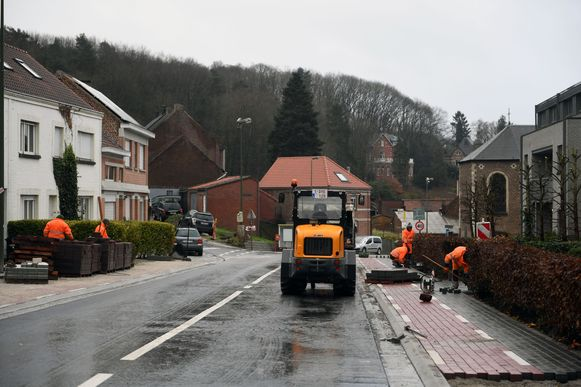 Een deel van de Leuvensestraat in Sint-Joris-Weert werd eerder heraangelegd