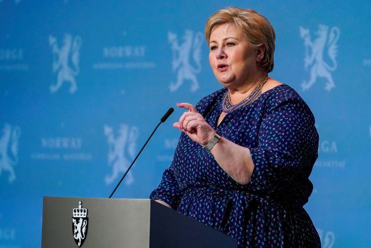 De Noorse premier Erna Solberg.