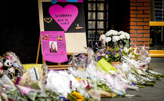 Bloemen bij het Oostwende College voor de 14-jarige Savannah.