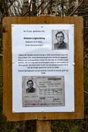 Het plakkaat aan de Oude Deventerweg dat herinnert aan Antoon Lugtenberg. Vlakbij dat bord stond destijds de kroeg waar hij een borrel ging halen toen hij werd verraden.