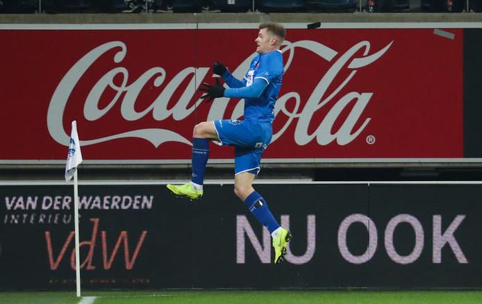 Alexander Sørloth maakte de winnende goal voor AA Gent.