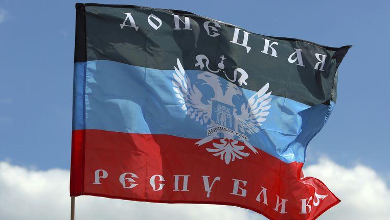 De vlag van de Volksrepubliek Donetsk. Beeld thinkstock