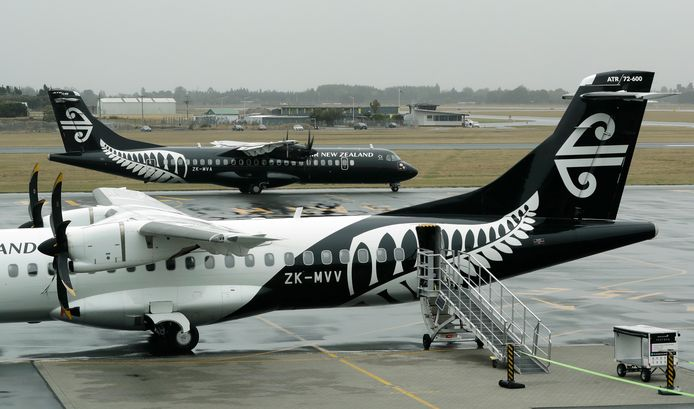 Toestellen van Air New Zealand blijven voorlopig aan de grond op de luchthaven van Christchurch.