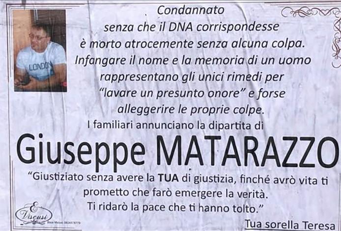 De familie van Giuseppe Matarazzo gelooft in zijn onschuld