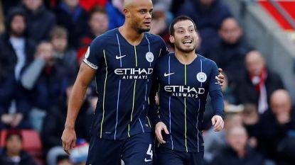 Manchester City, met Kompany de hele match op het veld, sluit 2018 op positieve noot af: 'Citizens' winnen verdiend met 1-3 op het veld van Southampton