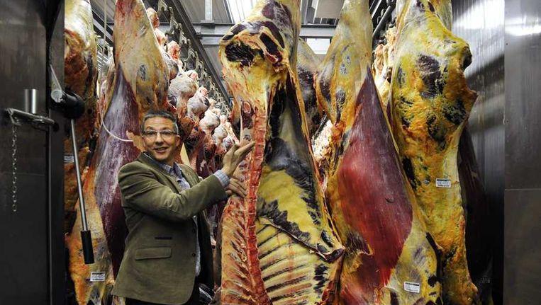 Kwaliteitsmanager Arjen de Ruiter van slachthuis Van Hattem Vlees. Beeld anp