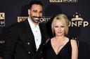 Adil Rami en Pamela Anderson.