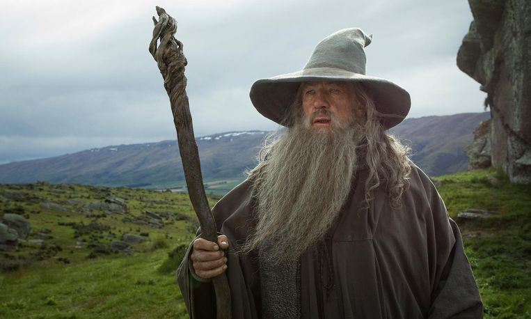 Ian McKellan, als Gandalf in 'The Lord Of The Rings'.