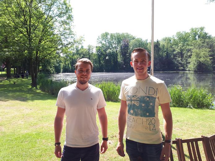 Jeroen van der Zande (links) en Daan Scholten.